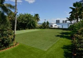 Southwest Greens artifical grass yard and putting area with landscape ocean view 3