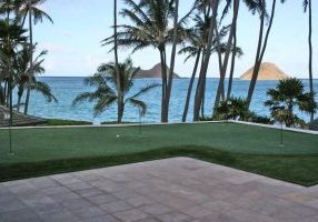 Southwest Greens artificial lawn pool surrounding ocean view(2)