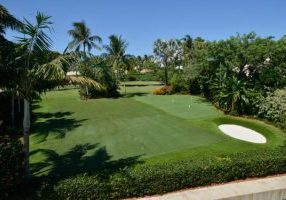 Southwest Greens artificial turf golf area with landscape on the beach 1