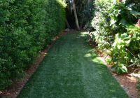 Southwest Greens synthetic grass residential strip with landscape 2